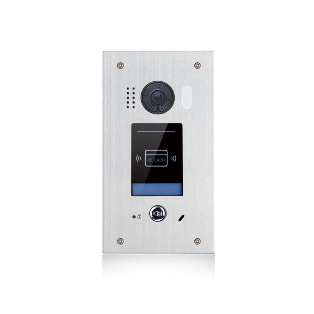Videointerfon de exterior RFID 2EAsy DT611F-ID-FE, 2 MP, EM, 320 utilizatori, 2 fire, aparent/ingropat