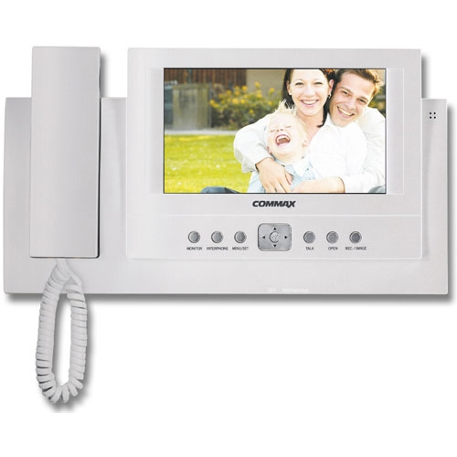 Videointerfon de interior Commax CAV-71B, 7 inch, 64 imagini, aparent imagine spy-shop.ro 2021