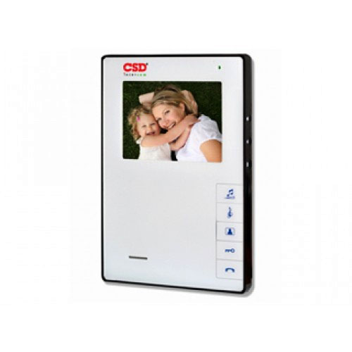 Videointerfon de interior CSD VP-609WH, 4 inch, 2/4 fire, aparent imagine spy-shop.ro 2021