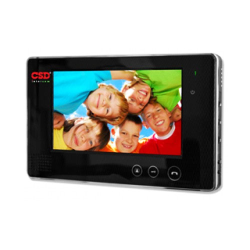 Videointerfon de interior CSD VP-700B, 7 inch, 2/4 fire, aparent imagine spy-shop.ro 2021