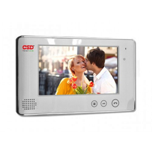 Videointerfon de interior CSD VP-700WH, 7 inch, 2/4 fire, aparent imagine spy-shop.ro 2021