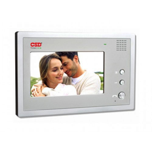 Videointerfon de interior CSD VP-701WH, 7 inch, 2/4 fire, aparent imagine spy-shop.ro 2021