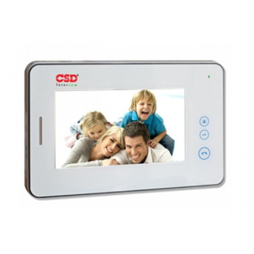 Videointerfon de interior CSD VP-730WH, 7 inch, 2/4 fire, aparent imagine spy-shop.ro 2021