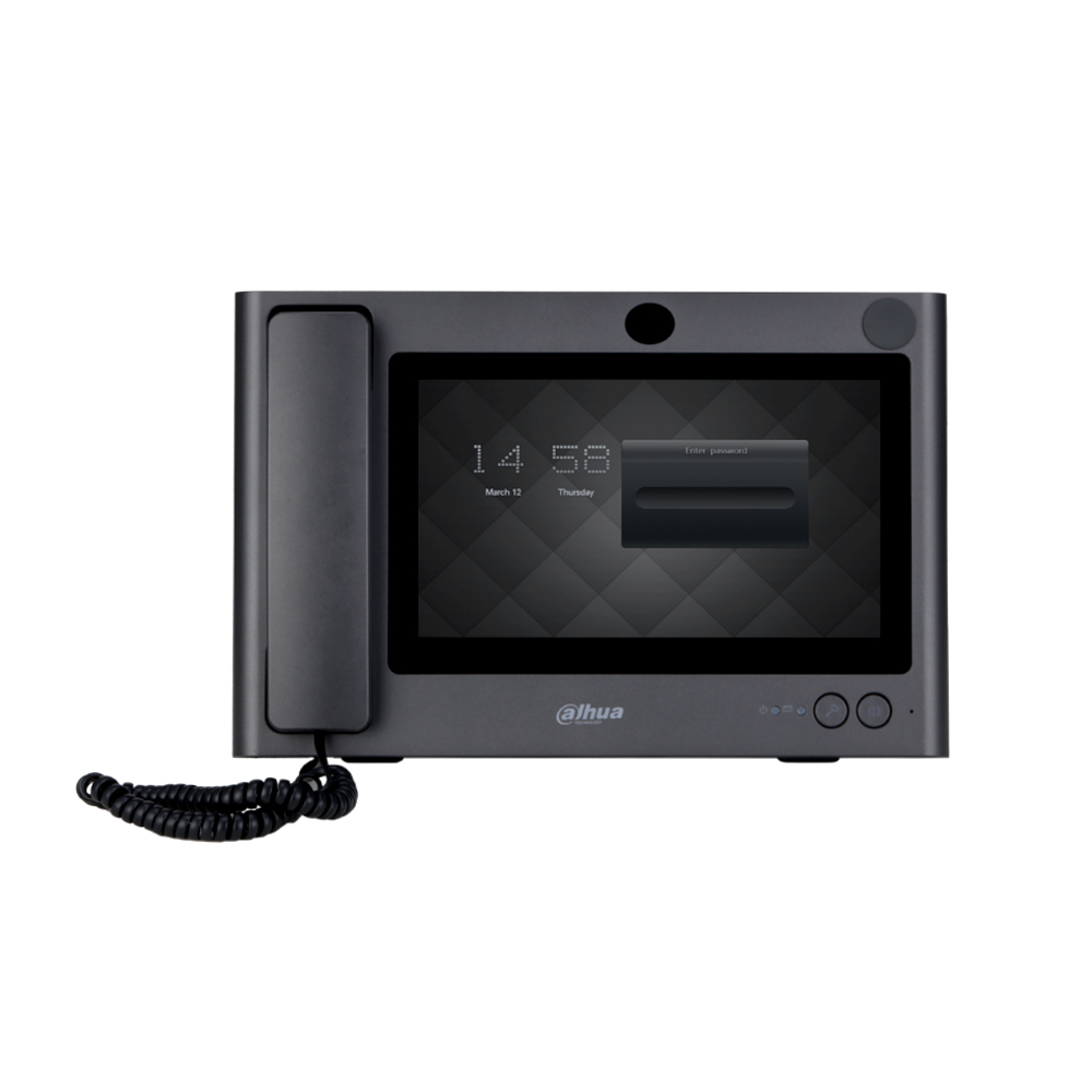 Videointerfon de interior IP Dahua DHI-VTS5340B, 10 inch, aparent, DC 12V imagine spy-shop.ro 2021