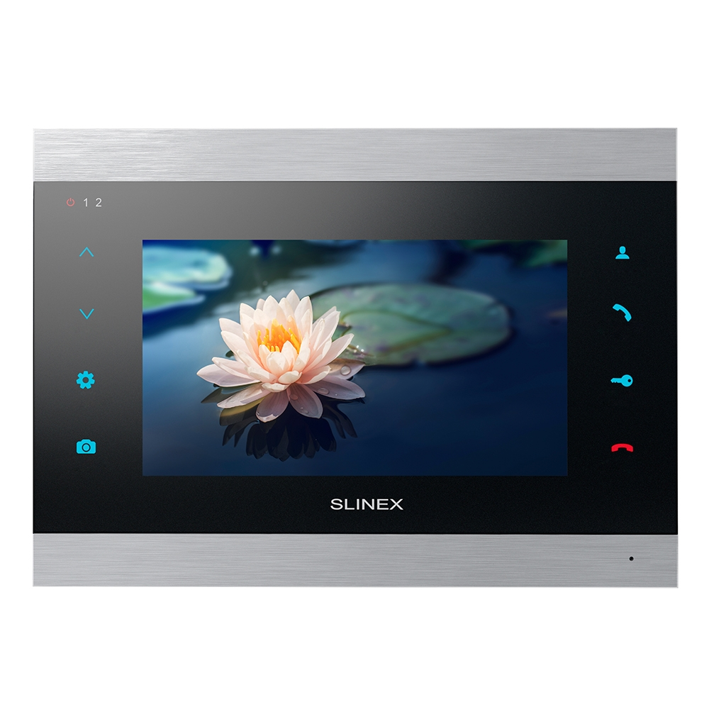 Videointerfon de interior IP WIFI Slinex SL-07IP-SB, 7 inch, aparent, 100-240 V imagine spy-shop.ro 2021