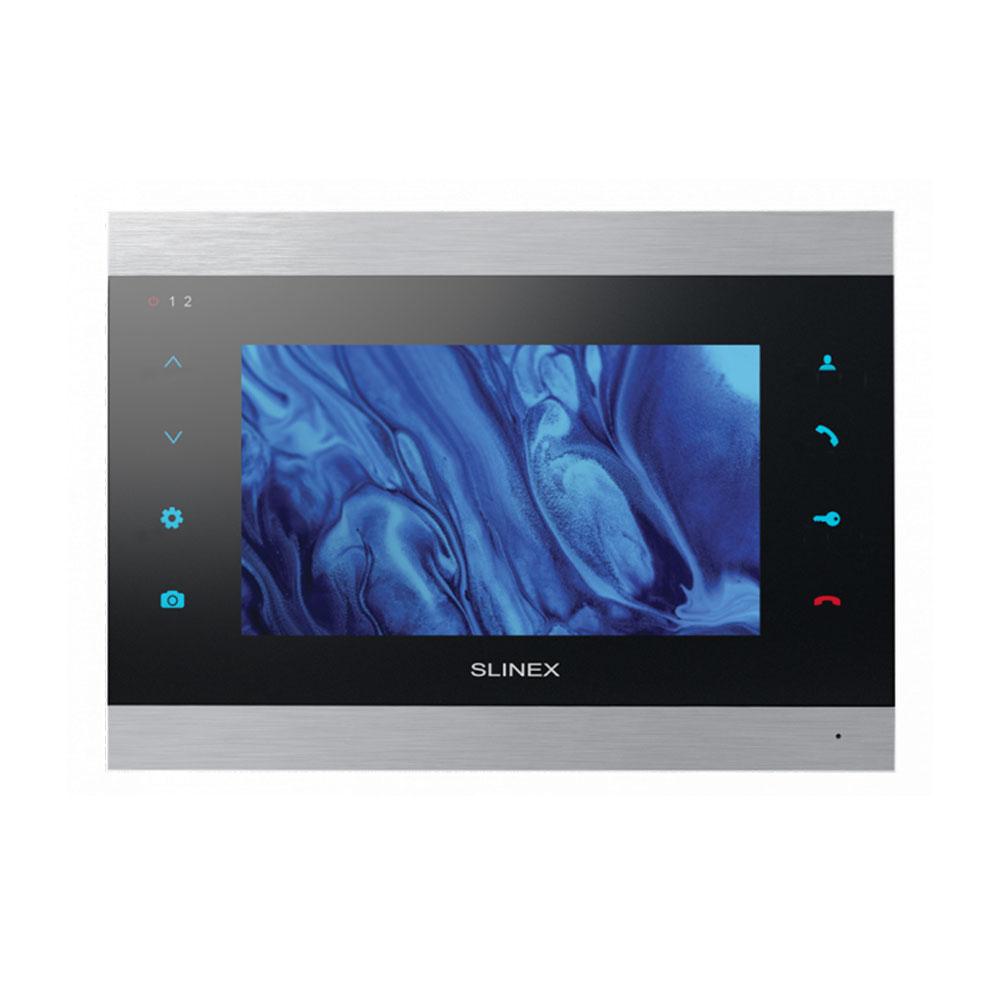 Videointerfon de interior IP WiFi Slinex SL-07IPHD-SB, 7 inch, aparent, slot card, detectia miscarii, vizualizare de pe telefon