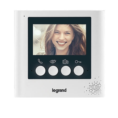 Videointerfon de interior Legrand 369115, 4.3 inch, aparent, 2 fire imagine spy-shop.ro 2021