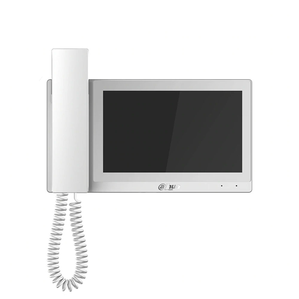 Videointerfon de intrior IP Dahua VTH5221EW-H, 7 inch, aparent, DC 12V/PoE imagine spy-shop.ro 2021