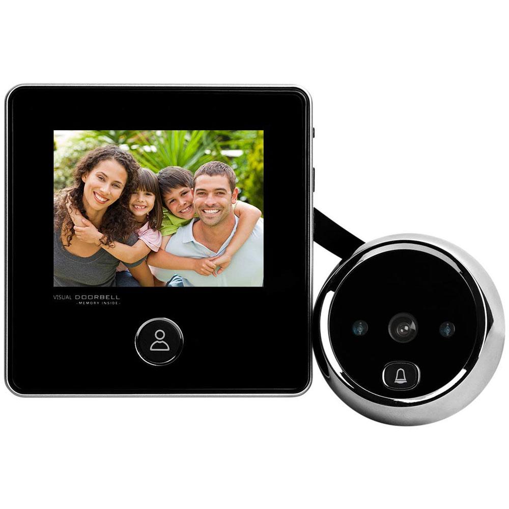 Vizor digital cu sonerie SF DD2, LCD, IR, 0.3 MP imagine spy-shop.ro 2021