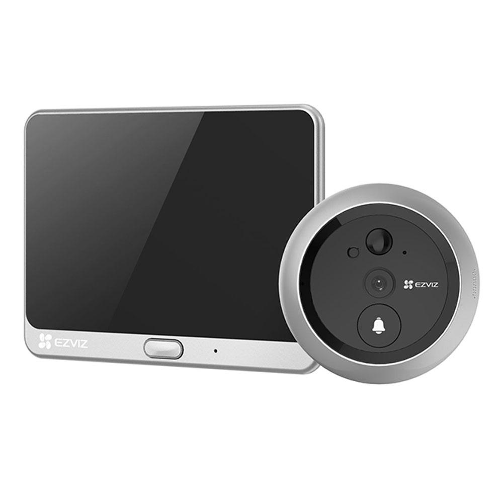 Vizor electronic wireless EZVIZ CS-DP1C-A0-4A1WPFBSR(EU-STD), 1 MP, 4.3 inch, IR 3 m, 2.2 mm, PIR, slot card, microfon imagine spy-shop.ro 2021