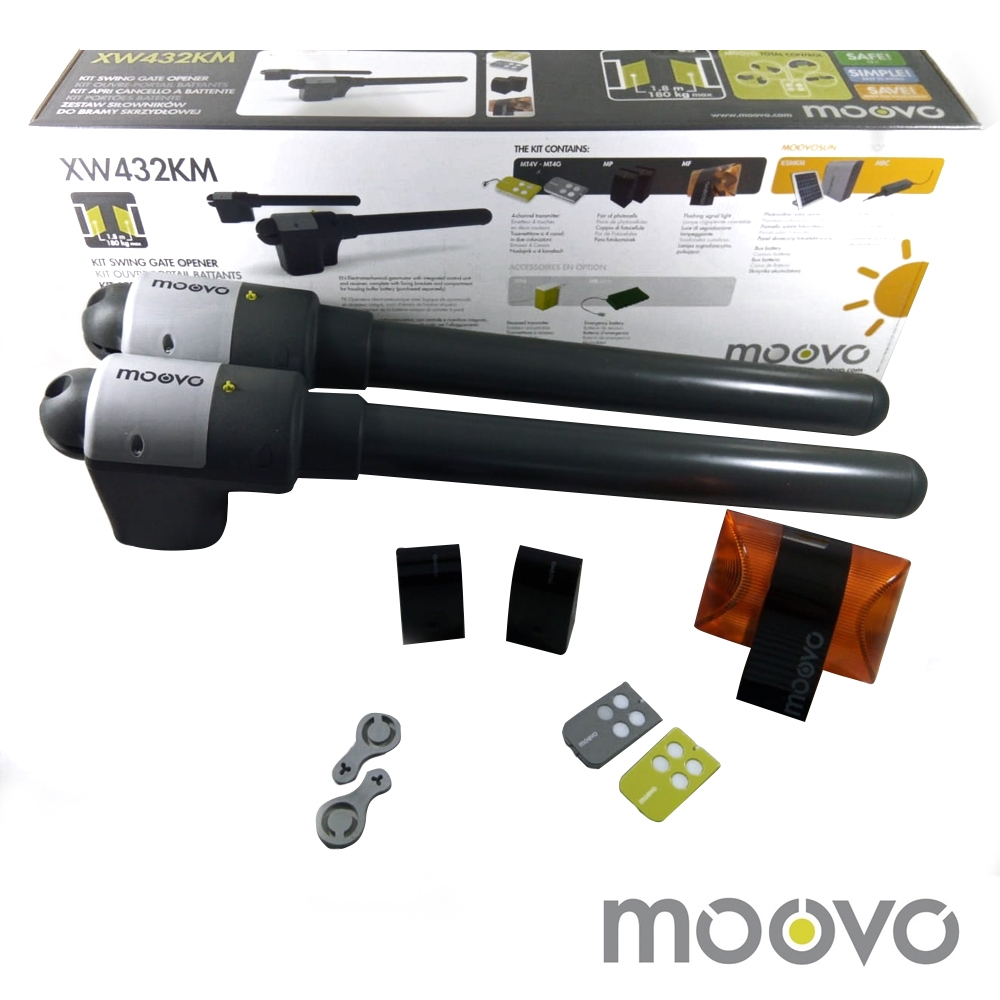 Kit automatizare poarta batanta Moovo XW432KM, 180 Kg, 1.8 m, 12 V