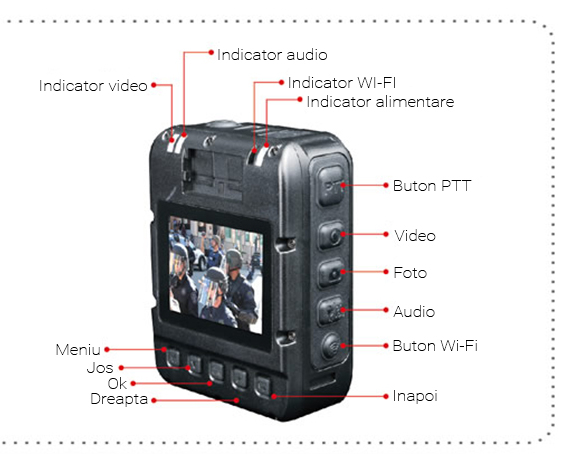 Camera video wifi Law Enforcement AEE P60B